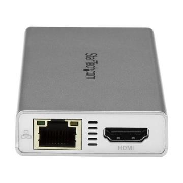 STARTECH Adattatore USB-C 4K HDMI USB 3.0 Bianco e Argento