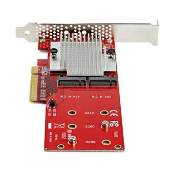STARTECH Adattatore X8 per due unità SSD PCIe M.2 - PCIe 3.0
