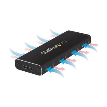 STARTECH Box Alloggio USB 3.0 esterno per SSD SATA M.2 - Convertitore NGFF di unità SSD con UASP