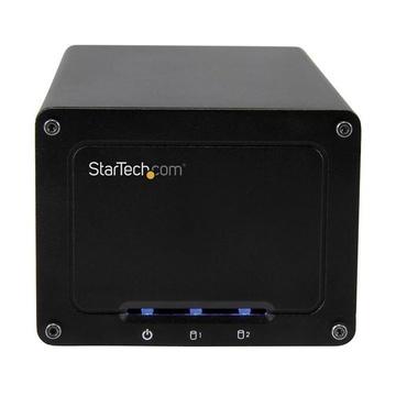 STARTECH BOX Esterno a doppio alloggiamento Disco rigido da 2,5