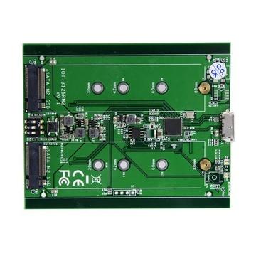 STARTECH Box Esterno USB 3.1 (10Gbit/s) a 2 Slot - Enclosure M.2 NGFF SSD SATA - RAID