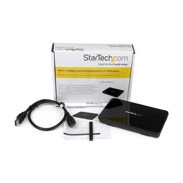 STARTECH Box externo USB 3.1 ad 1 alloggiamento senza utensili (tool-less) da 2,5