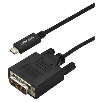 STARTECH Cavo Adattatore USB-C a DVI da 3m - 1920 x 1200 - Nero