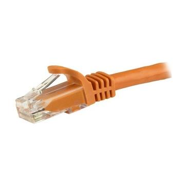 STARTECH Cavo patch CAT6 1,5 m - Filo di rame al 100% - Connettore antistrappo - Arancione