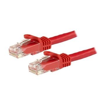 STARTECH Cavo patch CAT6 da 7,5 m - Filo di rame al 100% - Connettore antistrappo - Rosso