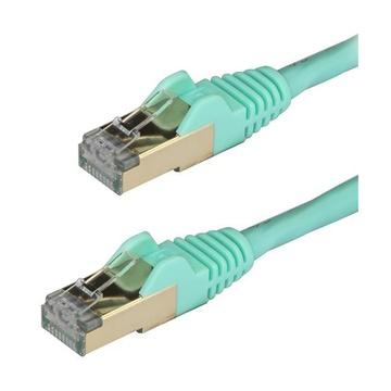 STARTECH Cavo patch CAT6a da 7,5 m - Schermato (STP) - Filo di rame al 100% - connettore antistrappo - Aqua