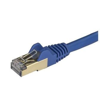 STARTECH Cavo patch CAT6a da 7,5 m - Schermato (STP) - Filo di rame al 100% - Connettore antistrappo - Blu