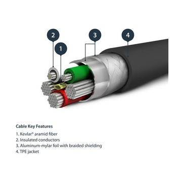 STARTECH Cavo USB a Lightning 2m Conforme Apple MFi Nero