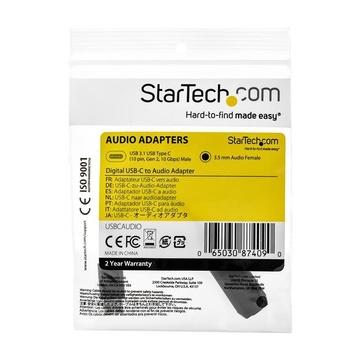 STARTECH Adattatore audio USB-C a jack da 3,5 mm - Attivo