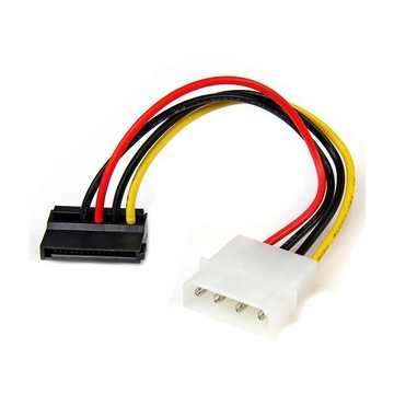 STARTECH Adattatore cavo di alimentazione Molex a SATA con angolare sinistro 4 pin 15 cm