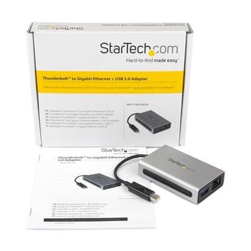 Adattatore di rete Thunderbolt a Gigabit Ethernet - Convertitore esterno da TB a RJ45 con porta USB 3.0 integrata