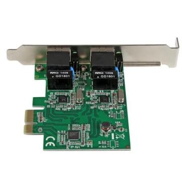 STARTECH Adattatore Scheda di Rete Ethernet Gigabit PCI express PCIe NIC a 2 porte RJ45 da 1 Gbps