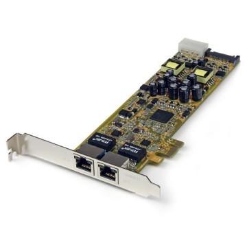 STARTECH Adattatore PCIe Ethernet Gigabit PCI Express a due porte - PoE/PSE