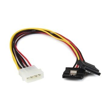 STARTECH Adattatore splitter cavo di alimentazione Y LP4 a 2 SATA latching da 30 cm - 4 pin a dual SATA