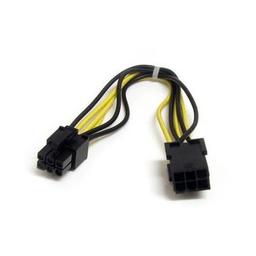 STARTECH Cavo di estensione alimentatore PCI Express 6 pin 20 cm