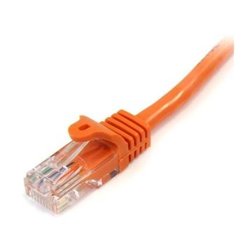 STARTECH Cavo di rete CAT 5e - Cavo Patch Ethernet RJ45 UTP Arancio da 3m antigroviglio