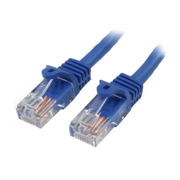 STARTECH Cavo di Rete da 10m Blu Cat5e Ethernet RJ45 Antigroviglio