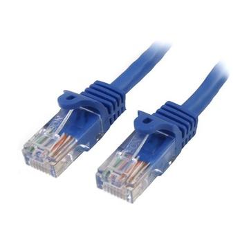 STARTECH Cavo di Rete da 50cm Blu Cat5e Ethernet RJ45 Antigroviglio