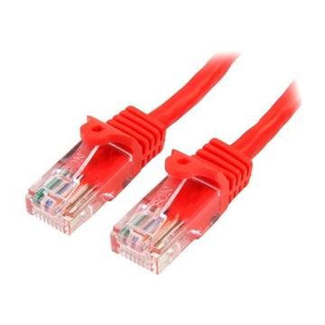 STARTECH Cavo di Rete da 5m Rosso Cat5e Ethernet RJ45 Antigroviglio