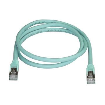 STARTECH Cavo di Rete Ethernet Cat6a - Cavo Schermato STP da 1m - Turchese