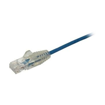STARTECH Cavo di Rete Ethernet Snagless CAT6 da 3m - Cavo Patch antigroviglio slim RJ45 - Blu