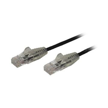 STARTECH Cavo di Rete Ethernet Snagless CAT6 da 50cm - Cavo Patch antigroviglio slim RJ45 - Nero