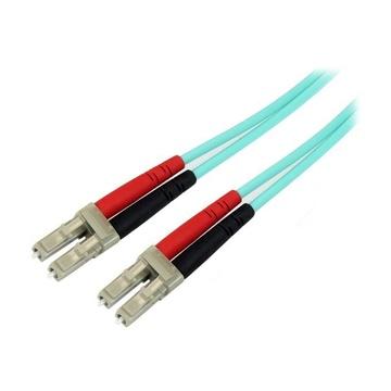 STARTECH Cavo patch duplex LSZH fibra multimodale 50/125 3 m 10 Gb Aqua LC - LC