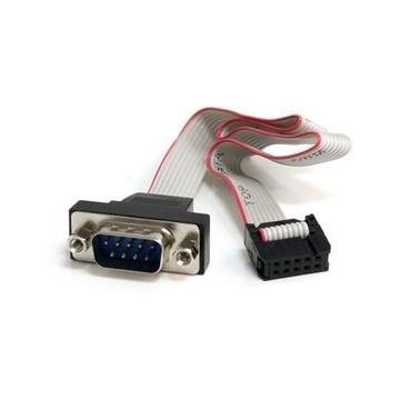 STARTECH Cavo per montaggio a pannello seriale maschio 9 pin a collettore scheda madre 10 pin da 40 cm ca.