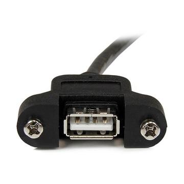 STARTECH Cavo Prolunga USB 2.0 per montaggio a pannello di Tipo A/A Femmina A / Maschio A - 30 cm