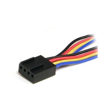 STARTECH Cavo sdoppiatore per alimentatore ventola 4 pin 12'' - F/M