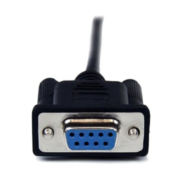 STARTECH Cavo seriale null modem DB9 RS232 nero 1 m - F/M