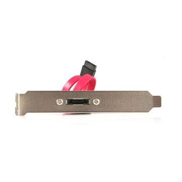 STARTECH eSATA Cable with External Slot Plate cavo SATA 0,3 m Nero