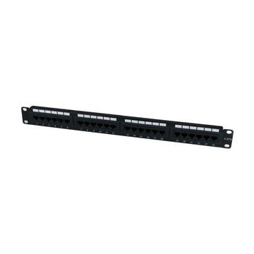 STARTECH Patch Panel Cat 6 a 24 porte 1U - Pannello di cablaggio per rete Cat6