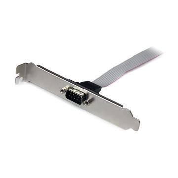 STARTECH Piastra slot 16'' (40 cm) da seriale maschio 9 pin a header scheda madre 10 pin