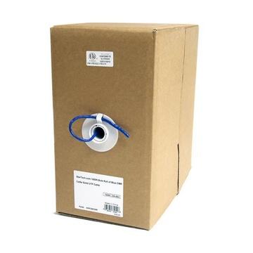 STARTECH Rotolo in serie di cavi UTP solidi CMR Cat5e, 304,8 m, colore blu