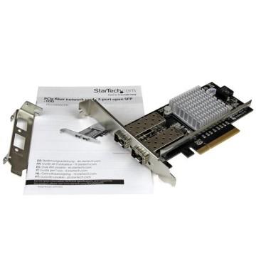 STARTECH PCI Express in Fibra ottica da 10Gb con 2 porte SFP+ aperto con Chip Intel