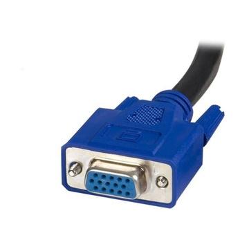 STARTECH Commuttatore KVM 2 in 1 VGA e USB Switch KVM per USB e VGA da 1,8m