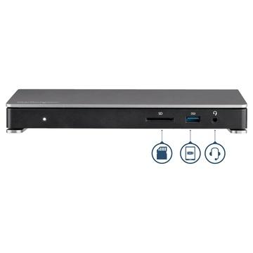 STARTECH Dock Thunderbolt 3 con lettore SD per doppio schermo - Dual 4K @ 60hz - 6x porte USB 3.0