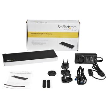 STARTECH Dual Monitor USB 3.0 Docking Station with HDMI DVI 6 x USB Ports