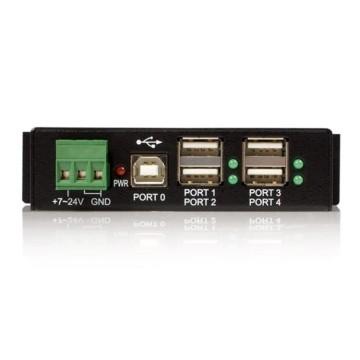 STARTECH HUB USB 2.0 Industriale in metallo a 4 porte