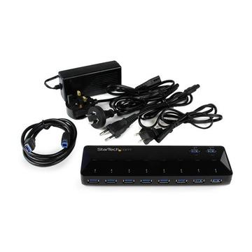 STARTECH Hub USB 3.0 a 10 Porte di Ricarica e Sincronizzazione - 2 Porte x 1,5 Amp