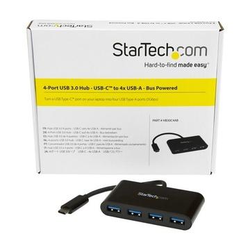 STARTECH Hub USB 3.0 a 4 porte - USB-C a 4 USB-A - Alimentazione a bus