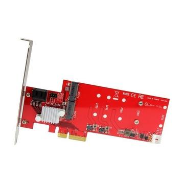 STARTECH Scheda PCI Express Controller 2x M.2 NGFF SSD RAID con 2 Porte Sata III - PCIe