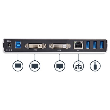 STARTECH USB3SDOCKDD Universale USB 3.0 DVI