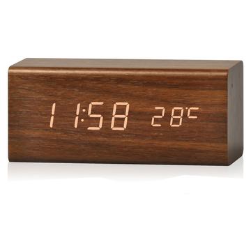 Swiss Go Orologio da tavolo con termometro RD SG 718 Marrone Wood