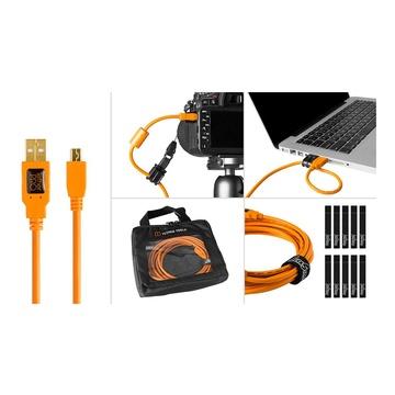 Tether Tools Starter Tethering- Kit: USB 2.0 A/Mini-B cavo 4,6m