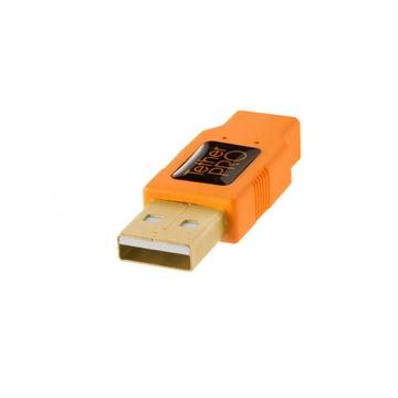 Tether Tools USB 2.0 A to Mini-B 8 pin 15' Arancione