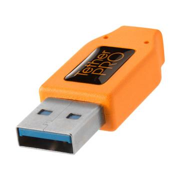 Tether Tools USB 3.0 a USB-C 4,60m arancione