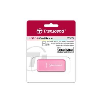 Transcend RDF5 USB 3.0 Rosa lettore di schede