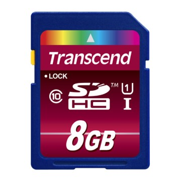 Transcend 8GB SDHC Classe 10 UHS-I 90mb/s